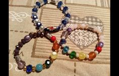 I miei braccialetti  fatti a mano, con cristalli  pregiati
