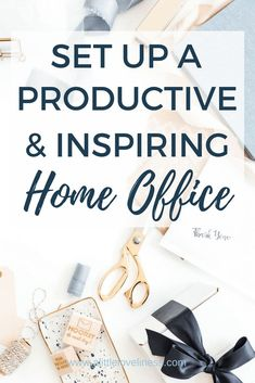 When you work at home, you need an office designed for productivity, organization, and inspiration! This chic furniture and feminine decor ideas will make you love Office Setup, Home Office Organization, Office Desk, Organization Ideas, Office 2020, Office Inspo, Office Style, Home Office Design, Home Office Decor
