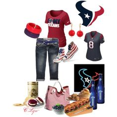 HouStoN TeXanS, created by clynt on Polyvore