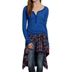 Camiseta Hollister Feminina Manga Longa VICTORIA BEACH – Azul royal