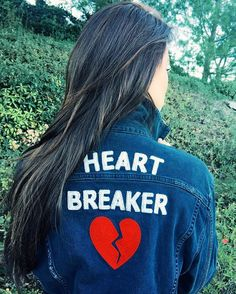 Caitlyn Chase of Caviar & Cashmere in the Lucky Brand Heart Breaker denim jacket.