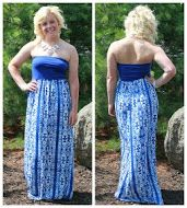 Blue patterned maxi for the girl who likes to make a statement!