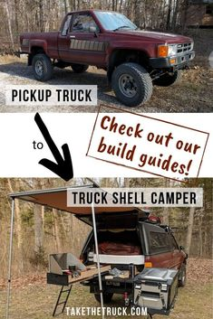Build the Ultimate Truck Shell Camping and Budget Overland Rig Truck Shells, Camper Shells, Best Truck Camper, Diy Camper, Camper Ideas, Camper Van, Truck Canopy, Ute Canopy, Truck Tent