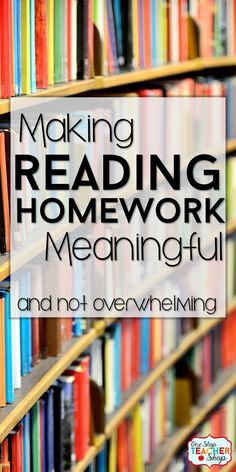 Reading homework should be meaningful and rigorous. Come learn how I made a reading homework system that includes reading comprehension practice with text dependent questions, without overwhelming students. I love how this one turned out!