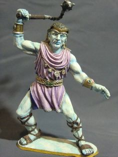 D&D Miniature Cloud Giant Ral Partha - Stunningly Painted by Ken Longacre ! Dragon Miniatures, Fantasy Miniatures, Cloud Giant, Ral Partha, Classic Mini, Love Painting, Dungeons And Dragons, Minis, Clouds