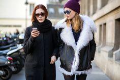 Models after Ann Demeulemeester during Paris Fashion Week 2015