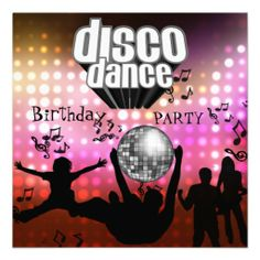 Shop Invitation Disco Dance Birthday Party Retro created by Label_That. Personalize it with photos & text or purchase as is! Zumba Party, Dance Party Birthday, Birthday Party For Teens, Teen Birthday, Birthday Ideas, Photo Invitations, Invitation Cards, Invitation Birthday, Disco Party