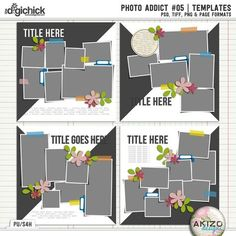Photo Addict #05 | Templates by Akizo Designs - For Digital Scrapbooking Layout