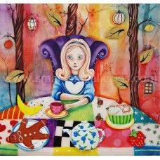 Study Of Alice At The Mad Hatters Tea-party by Kerry Darlington, available as Framed. ✅FREE DELIVERY✅ on prints & sculptures orders over Alice Tea Party, Alice In Wonderland Tea Party, Kerry Darlington, Mad Hatter Tea, Mad Hatters, Drawing Skills, Wizard Of Oz, Figure Painting, Illustration Art