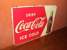 Placa Antiga Da Coca-cola Anos 50 - R$ 20,00 no MercadoLivre