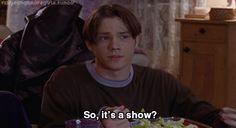"""It's a way of life!"" But you know its more than that. (Jared Padalecki on Gilmore Girls!! <3)"