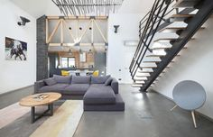 Contemporary Meets Industrial in this Private Home in Kiev, Ukraine