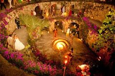 Xcaret, Riviera Maya Mexico wedding. Photo by THIS IS IT PHOTOGRAPHY. Planner: Ana Cruz Events & Xcaret Eco park.
