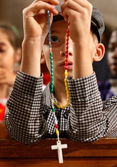 Praying the Rosary in October-- A teacher can use the mysteries in various ways in the classroom and at every level of education
