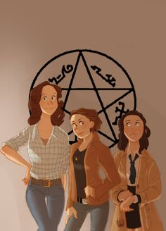 Supernatural - Dean Winchester x Sam Winchester + Castiel