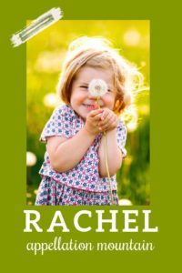 Rachel was big in the 80s, but now it's more of a classic choice for a daughter. #girlnames #babynames #namingbaby #appellationmountain