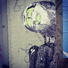 being within some kind of organic thing- streetart 2014 @ kottbusser tor berlin - photo by ironwhy