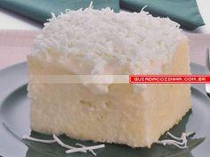 Receita de Bolo gelado bala de coco