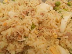 Salada de arroz e atum