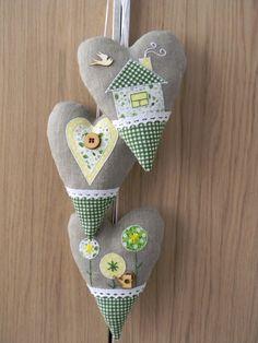 """Сердечки декоративные """"Весна"""" с лавандой"""