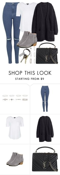 """""""Untitled #4298"""" by style-by-rachel ❤ liked on Polyvore featuring Topshop, H&M, Yves Saint Laurent and CB2"""