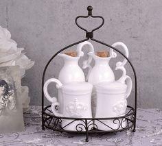 Spice Shaker, Shabby Chic Stil, Vinegar, Spices, Villa, Home Decor, Kitchen, Carafe, Dekoration