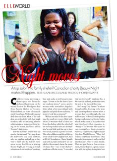 Elle Canada Features Beauty Night Society - building self esteem and restoring dignity to impoverished women