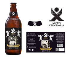 Rótulo Cervejaria X - Cerveja Angel Tripel