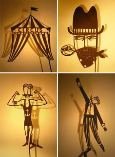 Papercut Shadow Puppets by Su Owen    If it was to be a print, the shadows would be very effective.