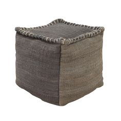 Trendy jute is a tough and cozy choice for a soft place to put up your feet. The contrast stitching on this rough-and-tumble cubic pouf gives it an extra dose of style.