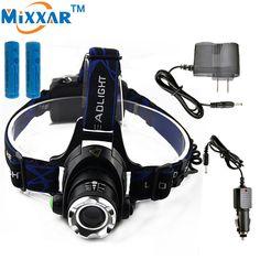 ZK30 3800LM Cree XM-L T6 Led Headlamp Zoomable Headlight Waterproof Head Torch flashlight Head lamp Fishing Hunting Light