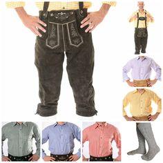 German Bavarian Oktoberfest Trachten Package Set Lederhosen Shirt Socks SPL | eBay