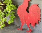 Fox Wooden Sign Red Running Large Scale Shabby Chic Cottage Woodland. Etsy.