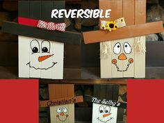Reversible Scarecrow Snowman by WoodsDesignsTN on Etsy