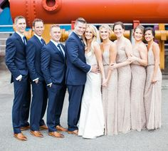 Come Sail Away: Nautical Wedding on Lake Union || Clane Gessel Photography || Bridesmaid Dresses: Adrianna Papell