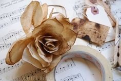 Tutorial: Coffee Filter Roses.