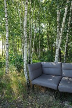Designed by Format Elf Architekten, Longhouses (Langhäuser) are 3 holiday cottages for a stay on Hafnerleiten farm in Bad Birnbach, Lower Bavaria, Germany. Outdoor Sofa, Outdoor Furniture, Outdoor Decor, Cottage Design, Premium Wordpress Themes, Little Houses, Architecture, Cottages, Building