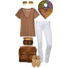 This has my name all over it. My kind of style kids. I love white jeans, white slacks, white capris....yum.