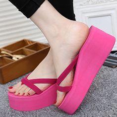 Platform Height: Heel Height: Closure Type: Slip On. Platform Flip Flops, Wedge Flip Flops, Platform High Heels, Flip Flop Slippers, Womens Flip Flops, Types Of Shoes, Womens Slippers, Womens High Heels, Wedge Sandals
