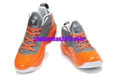 e5759ceb463698 Jordan Melo M8 Carmelo Anthony VIII Shoes Gray Orange Cheap NBA Basketball  Shoes  Orange