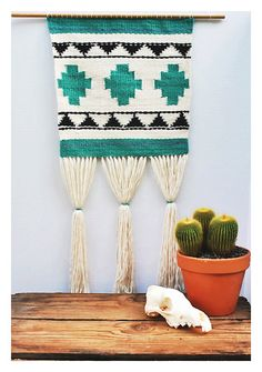 Desert Weaving II // Handwoven Wall by wildcolumbinetextile, $170.00
