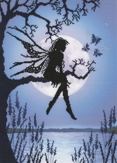 This stunning Luna Fairy comes from Bothy threads designer, Lavinia Stamp.