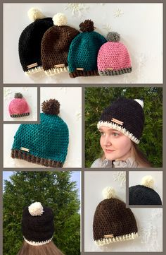 Wow! THE perfect winter hat includes a pom-pom! Hello Winter Hat crochet pattern by Little Monkeys Design. Pick your 2 favorite colors and get started!