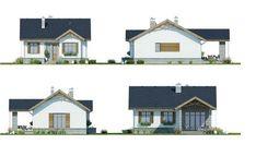 Proiect detaliat – casă pe un singur nivel cu suprafața de 99 m² | stiri.MagazinulDeCase.ro Design Case, Modern House Design, Home Fashion, Cabin, Mansions, House Styles, Home Decor, Home Layouts, Haus