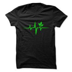 Pulse Green Go Vegan Save Earth Wave Heartbeat