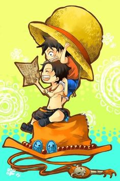 Luffy and Ace.