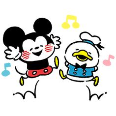 Mickey et Donald Epic Mickey, Disney Mickey, Disney Art, Mickey Mouse And Friends, Minnie Mouse, Walt Disney Company, Line Sticker, Disney Characters, Fictional Characters