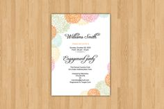 Engagement Party Invitation Template  @creativework247