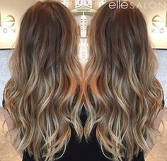 Hair by ⠀ Balayage Hair Brunette With Blonde, Honey Blonde Hair, Hair Color Streaks, Hair Color Balayage, Bombshell Hair, Bayalage, Hair Styler, Hair Day, Gorgeous Hair