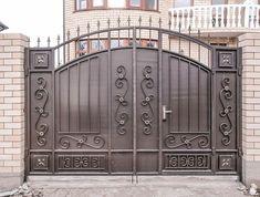 Iron Main Gate Design, Gate Wall Design, Front Gate Design, House Gate Design, Entrance Design, Steel Bed Design, Gate Designs Modern, Pillar Design, Grill Door Design